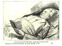 Gerhart Hauptmann Beim Diktat (nach Einer Zeichnung Von Eugen Spiro)    / Druck, Entnommen Aus Zeitschrift /1924 - Livres, BD, Revues