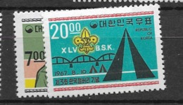 1967 MNH South Korea, Scouting, Postfris - Corée Du Sud