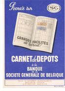 BUVARD  Societe Generale De Belgique - Banco & Caja De Ahorros
