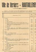 VERVIERS Ravitaillement Nombre (7) Carte De Pain (10) Avis De Troubles (1) Vaccination (1) - 1939-45