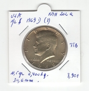 USA. Half Dollar, 1/2 $ 1969D (3). KM #202a. TTB - Federal Issues
