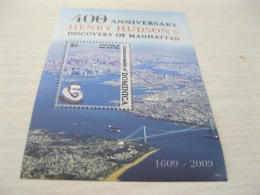 Dominica Dominica Henry Hudson's Discovery Of Manhattan Map - Dominica (1978-...)