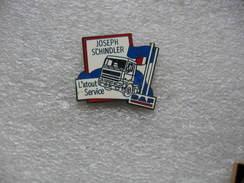 Pin's Garage - Concessionnaire Poids Lourd De La Marque DAF: Joseph SCHINDLER, L'atout Service - Transportation