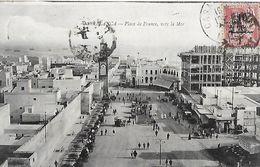 CPA  CASABLANCA (Maroc).  Place De France, Vers La Mer, Animé, Voiture Ancienne, Glacier. .B135 - Casablanca