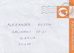 GOOD ESTONIA Postal Cover With Original Stamp 2016 With Rakvere Cancel - Estonia