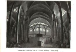 Modell Der Sternkirche (von Dr. Otto Bartning)  / Druck, Entnommen Aus Zeitschrift /1924 - Books, Magazines, Comics