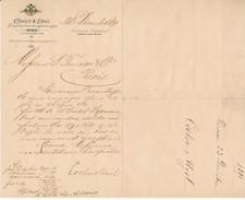 Facture, Lettre Commerciale 1891 - Coeln & Uzel, WIEN - Autriche