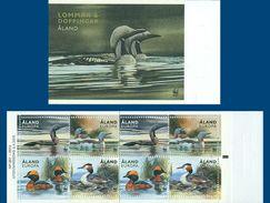 Aland Finland 371/74 Carnet Oiseaux, Canards, Wwf - W.W.F.