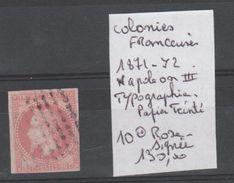 TIMBRE DE France (ex-colonies & Protectorats) > Émissions Générales > Napoléon III  Nr 10 OBLITERE SIGNEE  COTE  130.0€ - Napoléon III
