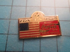 Pin510a Pin's Pins / Beau Et Rare : COCA-COLA MONDIAL FOOTBALL ITALIE 1990 DRAPEAU USA - Coca-Cola