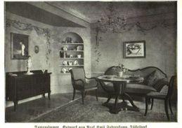 Damenzimmer (Entwurf Von Professor Emil Fahrenkamp  / Druck, Entnommen Aus Zeitschrift /1924 - Books, Magazines, Comics