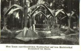 Max Tants Expressionistisches Grabdenkmal Auf Dem Waldfriedhof Stahnsdorf Bei  Berlin /Druck Aus Zeitschrift /1924 - Books, Magazines, Comics