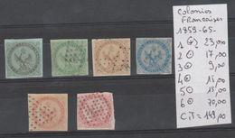 TIMBRE DE France (ex-colonies & Protectorats) > Émissions Générales > Aigle Impérial  Nr 1(*)-2/6  OBLITERE  COTE  149€ - Aigle Impérial