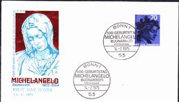 BRD FGR RFA - 500. Geburtstag Von Michelangelo (MiNr: 833) 1975 - FDC - FDC: Briefe