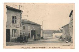 54 Thiaville Sur Meurthe Rue De Fagnoux Cpa Animée Edit CLB Cachet 1931 - Francia
