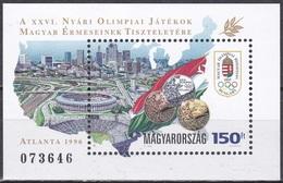 Ungarn Hungary 1996 Sport Spiele Olympia Olympics Atalanta Medaillengewinner Fahnen Flaggen Flags, Bl. 236 ** - Hongrie