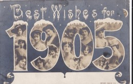 AO59 Greetings - Best Wishes For 1905 - Actresses - Nouvel An