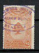 LIBANON Grand Liban Taxe Droit Fiscal 25 C. O Hotel ... - Great Lebanon (1924-1945)