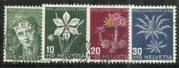 """Schweiz 475-78 """"4 Briefmarken Im Satz Kpl. Zum Thema: Pro Juventute 1946 Kpl. """" Gestempelt Mi. 11,00 - Suisse"""