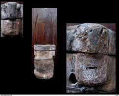 Vieux Pilon Anthropomorphe Toraja - Boîtes/Coffrets