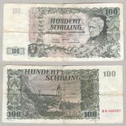 AUSTRIA AUTRICHE HUNDERT SCHILLING BN 400057 1954 - Austria