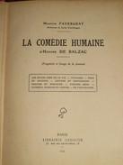 059 / LIVRE / LA COMEDIE HUMAINE D'Honoré De BALZAC - 1934 - 334 Pages - Libros, Revistas, Cómics