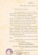 Bescheinigung 1930 - Militaria