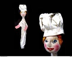 Ancienne Marionnette 1930 Cuisinière Française / Old 1930 Puppet French Cook - Puppets