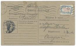 CARTE POSTALE / PARIS  / 1946 / CARTE RAVITAILLEMENT GENERAL / POUR LAFOUILLADE AVEYRON - Marcofilie (Brieven)