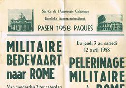 Militaire Bedevaart 1958 Rome - Livres, Revues & Catalogues