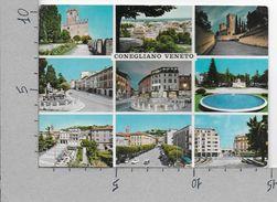 CARTOLINA VG ITALIA - CONEGLIANO VENETO (TV) - Vedutine - Multivue - 10 X 15 - ANN. 19?? - Treviso