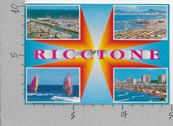 CARTOLINA VG ITALIA - RICCIONE (RN) - Vedutine - Multivue - 10 X 15 - ANN. 198? - Rimini