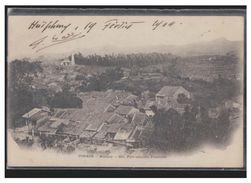 VIET-NAM -- TONKIN -- MONCAY -- FORT CHINOIS -- FRONTIERE -- CP 1904 -- TIMBRE DECOLLE -- - Viêt-Nam