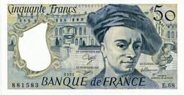 """Billet 50 F """"Quentin De La Tour"""" -1991 - 1962-1997 ''Francs''"""