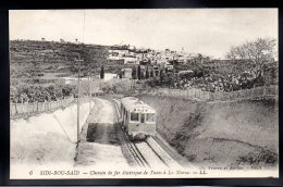 TUNISIE - SIDI BOU SAÏD - Chemin De Fer Electrique De Tunis à La Marsa - Train Tramway - Tunisie