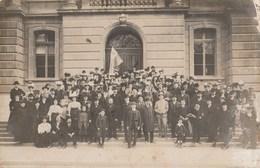 CARTE-PHOTO  SUISSE NEUFCHATEAU ESPERANTO GROUPE DE PARTICIPANTS - NE Neuchâtel