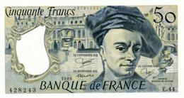 """Billet 50 F """"Quentin De La Tour"""" -1986 - 1962-1997 ''Francs''"""