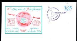 NETHERLANDS 2004 FDC 43e DAG VD AEROFILATELIE AEROPHILATELY DAY *  MARCOPHILY * AVIATION STORK BIRD UIVER - FDC