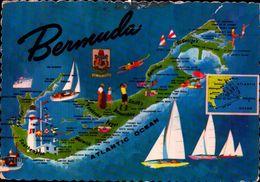 BERMUDA, MAPA DA ILHA   [40576] - Bahamas