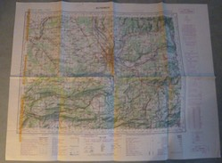 Carte I.G.N. : ALTKIRCH + BALE (Suisse) - 1/100 000ème - 1935/40-62. - Topographical Maps