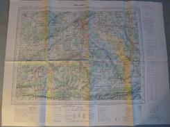 Carte I.G.N. : BELFORT + PORRENTRUY (Jura Suisse) - 1/100 000ème - 1937/54-1958. - Topographical Maps