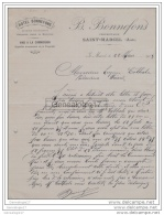 11 1753 SAINT MARCEL AUDE 1903 Hotel Cuisine Bourgeoise B. BONNEFONS Proprietaire ˆ EUGENE CATHALA - France