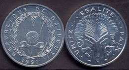 Djibouti 5 Franc 1991 UNC < Animals > - Djibouti