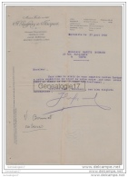 13 2293 MARSEILLE BOUCHE DU RHONE 1915 Ets J. GEOFFRAY Et JACQUET Quai RiVe Neuve Et LYON LIMARISICILE PORT SAINT LOUIS - Francia