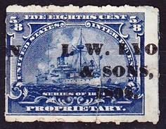 USA 1860 Steuermarke (besch.) - 1861-65 Confederate States