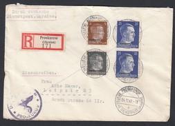 DR Deutsche Dienstpost Ukraine Einschreiben MiF 1942 Proskurow Nach Leipzig K693 - Dienstpost