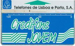 PHONECARDS-PORTUGAL -- TLP-CREDIFONE JOVEM  OPTICAL- 120 U--BATCH 911B--RARE - Portugal