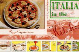 PIZZA CAPRICCIOSA  KITCHEN RICETTA IN TEDESCO FUNGHI CHAMPIGNON PILZ - Ricette Di Cucina