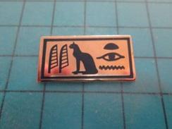 Pin510a Pin's Pins / Beau Et Rare : CHAT EGYPTE HIEROGLYPHES   Marquage Au Dos : ---- - Dieren