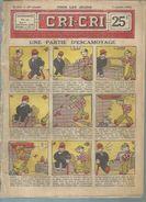 """LE CRI-CRI  N° 510  """" UNE PARTIE D'ESCAMOTAGE """"   -  OFFENSTADT - JUILLET 1928 ( Avec CHARLOT De THOMEN ) - Autre Magazines"""